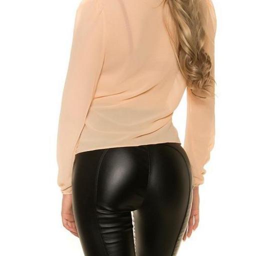 Blusa femenina champagne gasa elegante [1]