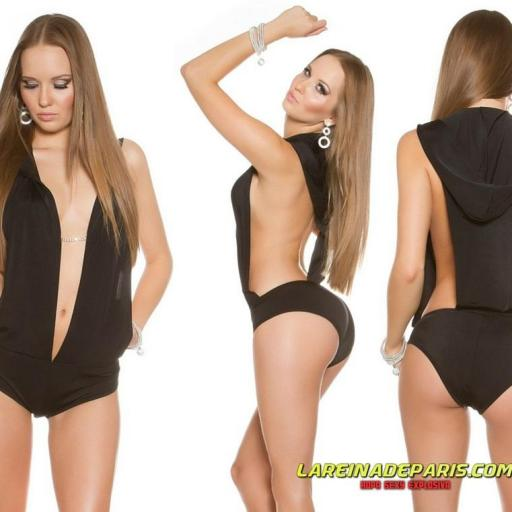 Vestuario bailarina body negro [2]