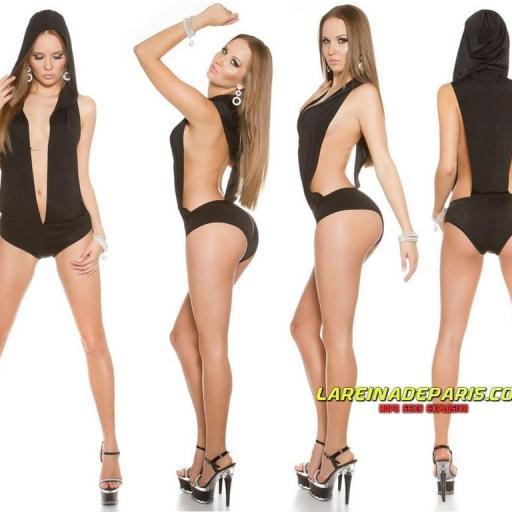 Vestuario bailarina body negro [1]