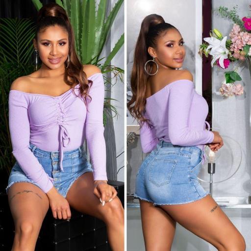 Body básico de moda lila [2]