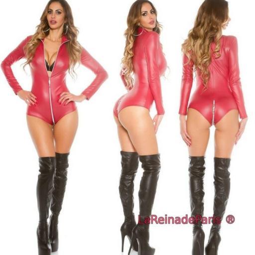 Body provocativo gogo moda burdeos