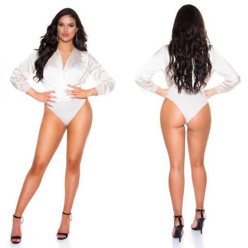 Body satinado de moda beige [1]