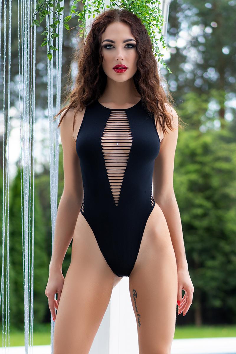 Body tanga 4D negro