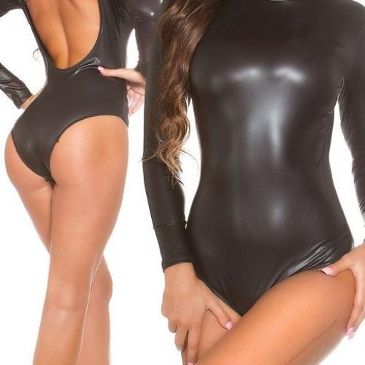 Body latex brillante ajustado [0]