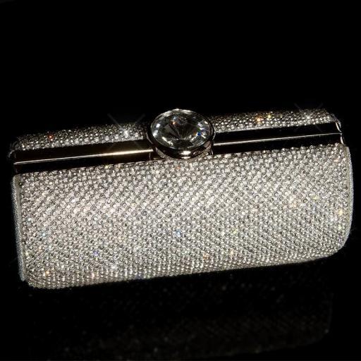 Bolso clutch plata [1]