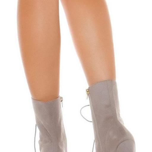 Botas de tacón alto cremallera tendencia [2]
