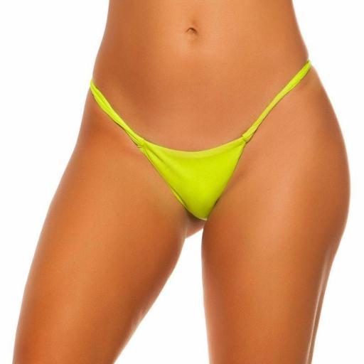 Braga bikini amarillo combinable