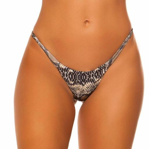 Braga bikini serpiente combinable