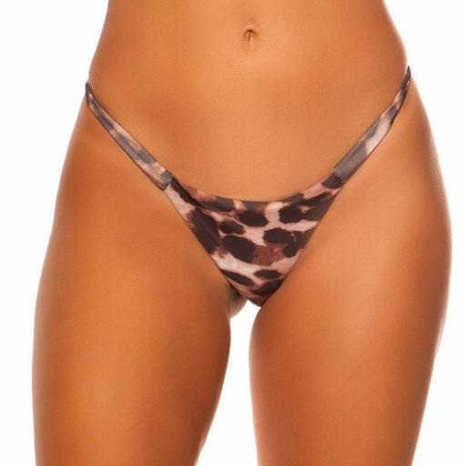 Braga bikini leopardo combinable