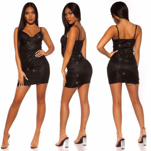 Vestido brillante lurex negro [3]