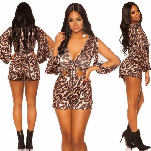 Buzo corto leopardo