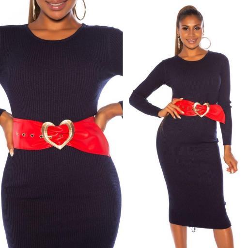 Cinturón corazón rojo