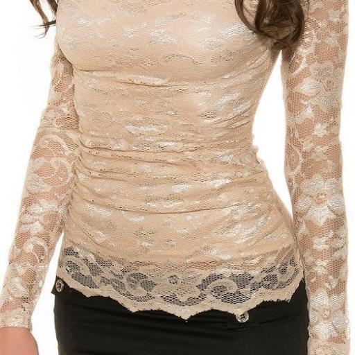 Camisa mujer atractiva de encaje  [1]