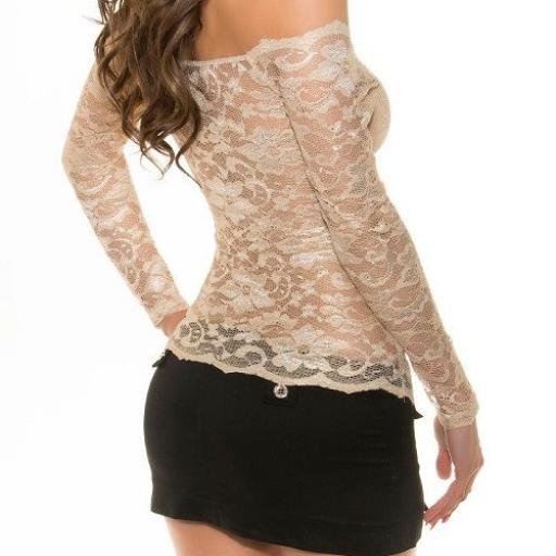 Camisa mujer atractiva de encaje  [2]