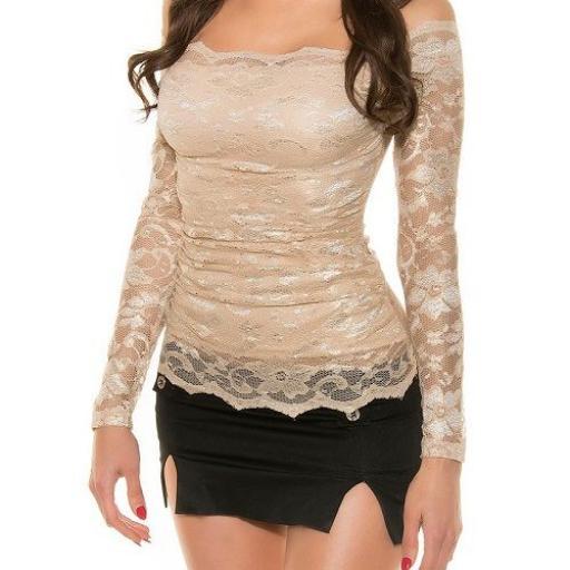 Camisa mujer atractiva de encaje  [3]