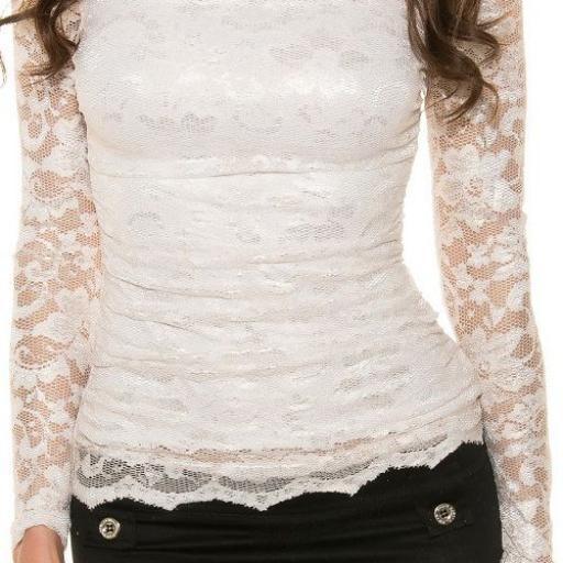Camisa de moda elegante crema [1]