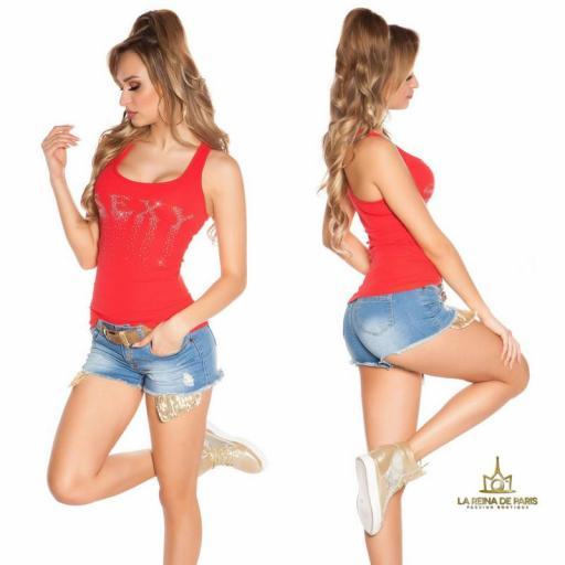 Camiseta sexy con cremallera rojo [2]