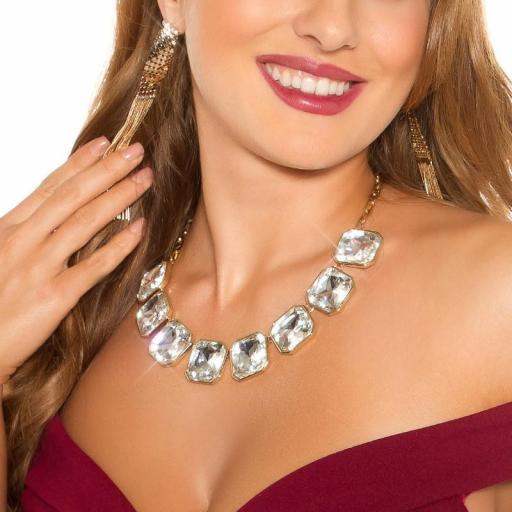 Collar de moda plata oro
