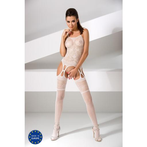 Atractivo bodystocking blanco
