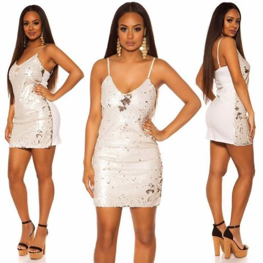 Mini vestido blanco fiesta