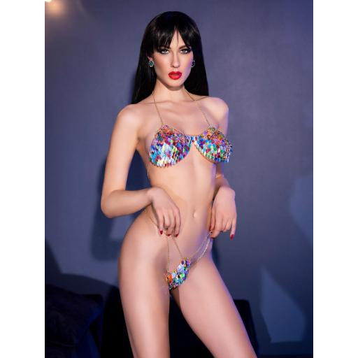 Lencería sexy de joyas corporales