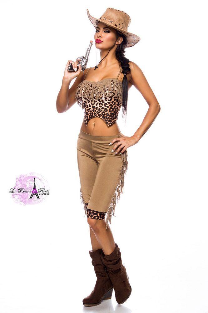 Cowgirl disfraz areactivo