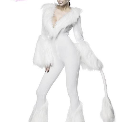 Disfraz atractivo de unicornio blanco