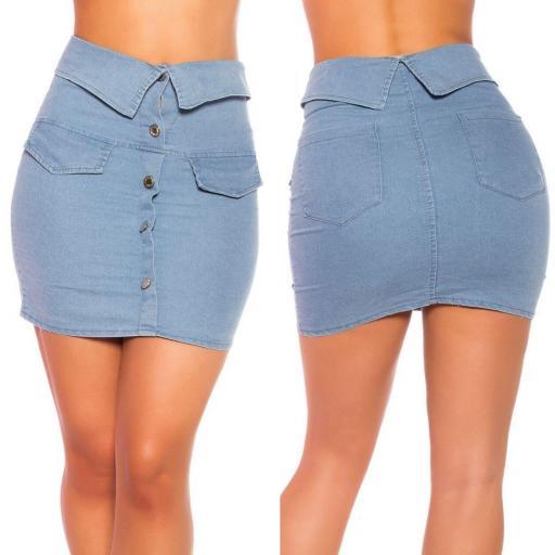 Falda de blue jean y botones