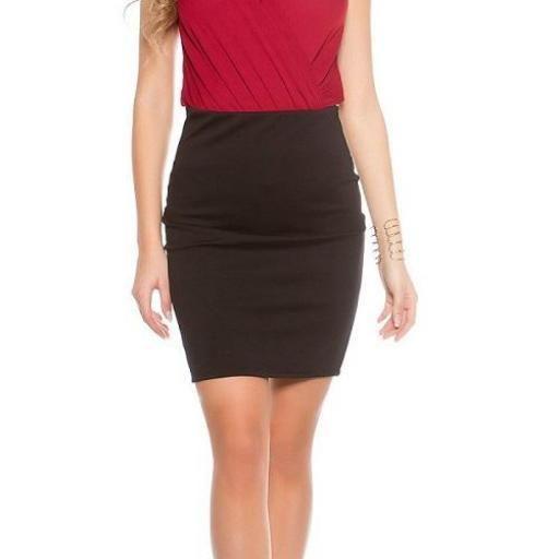 Falda corta básica negra [1]
