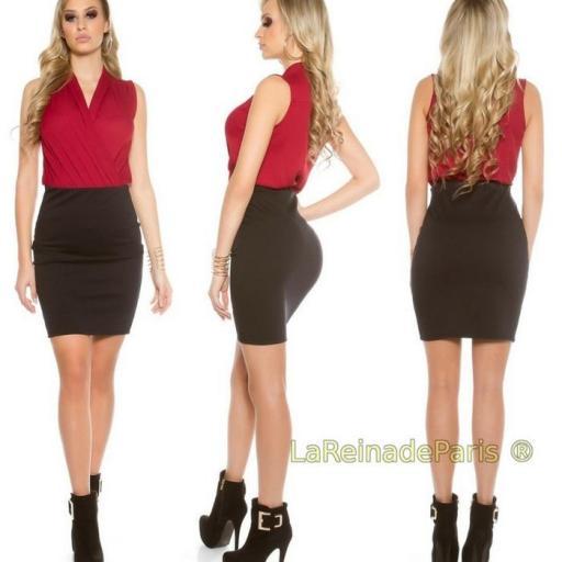 Falda corta básica negra [2]