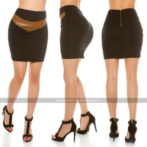 Falda a la cintura ajustada [0]