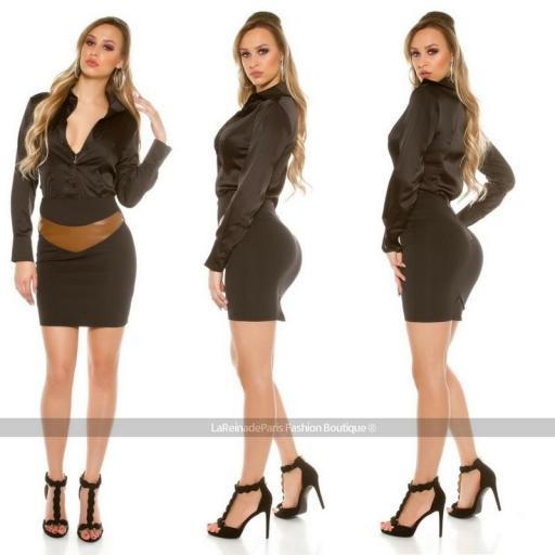 Falda a la cintura ajustada [3]