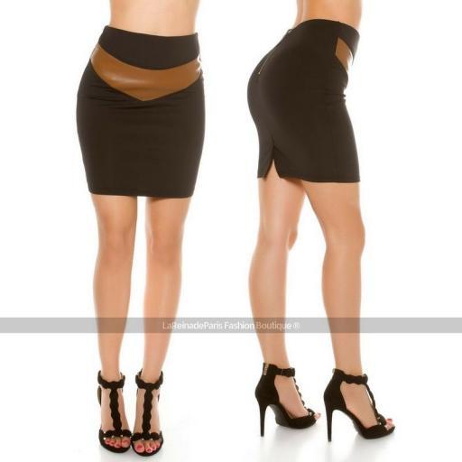 Falda a la cintura ajustada [1]
