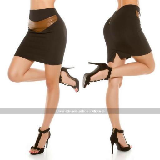 Falda a la cintura ajustada [2]