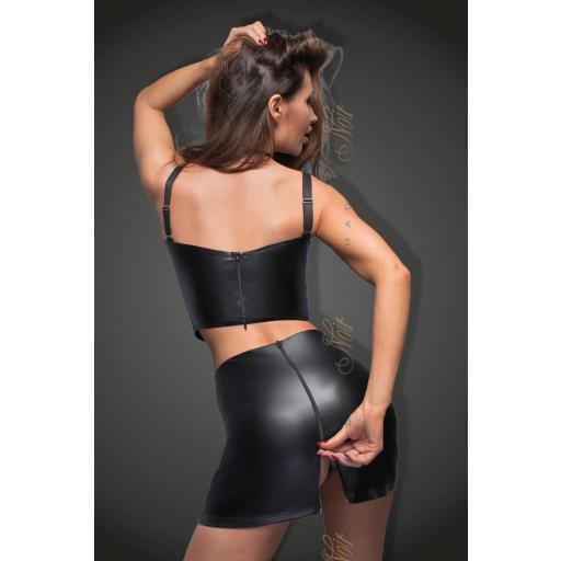 Falda negra de cuero vegano [3]