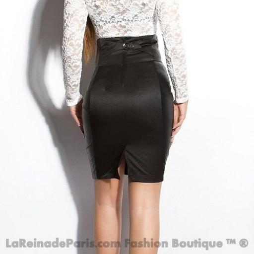 Falda negra talle alto elegante Lynsie  [1]