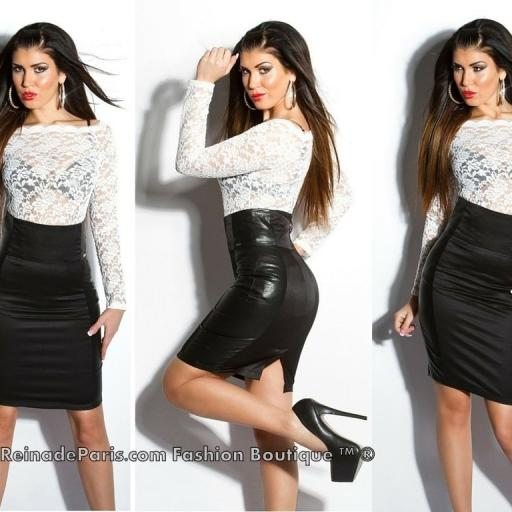 Falda negra talle alto elegante Lynsie  [2]