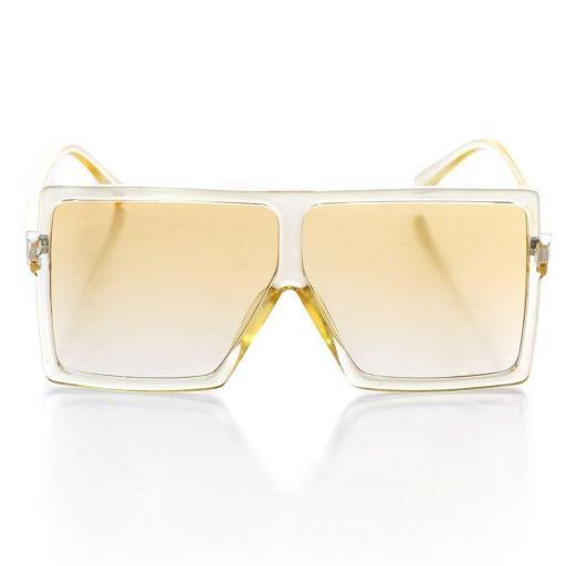 Gafas de sol rectangulares amarillo