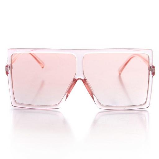 Gafas de sol rectangulares rosa