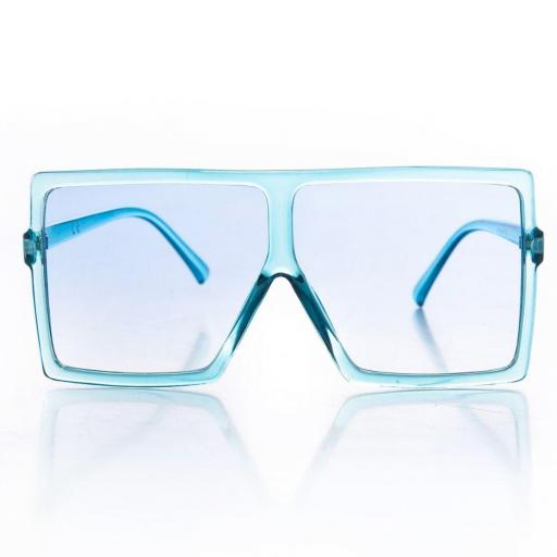 Gafas de sol rectangulares azul