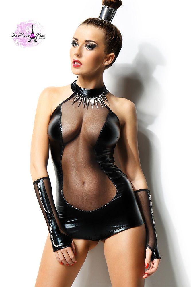 Gogo moda sexy conjunto negro