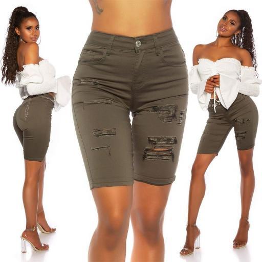 Short jean khaki