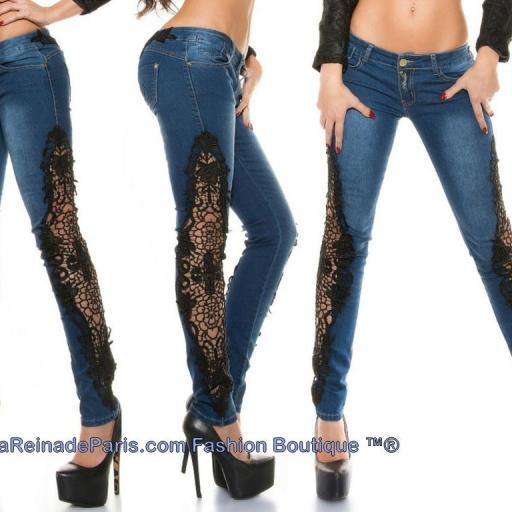 Jeans pitillo con ganchillo Rayen [2]