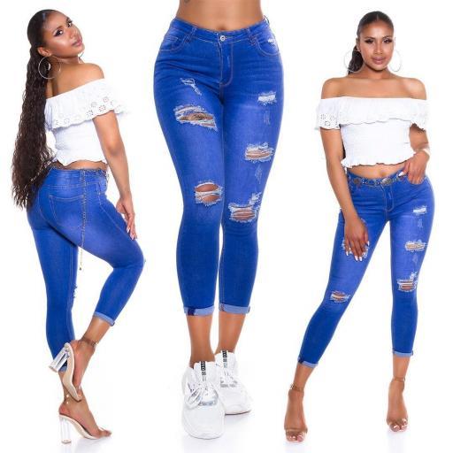 Jeans rotos sexy ajustados