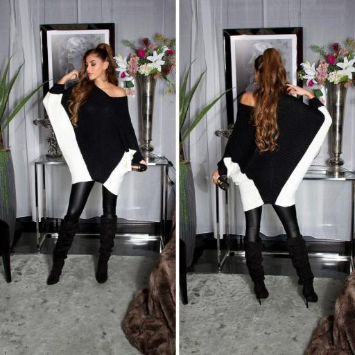 Jersey estilo poncho negro