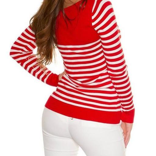 Jersey corto de moda náutico rojo [3]