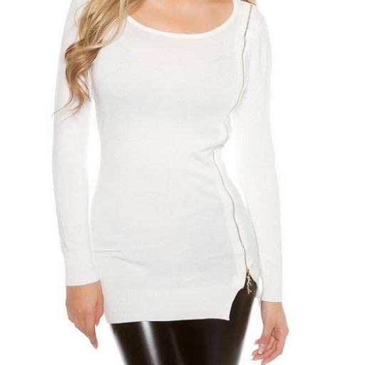 Jersey para leggings punto fino blanco [1]