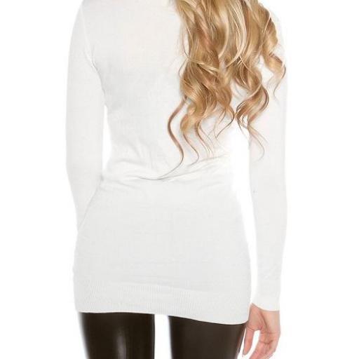 Jersey para leggings punto fino blanco [2]