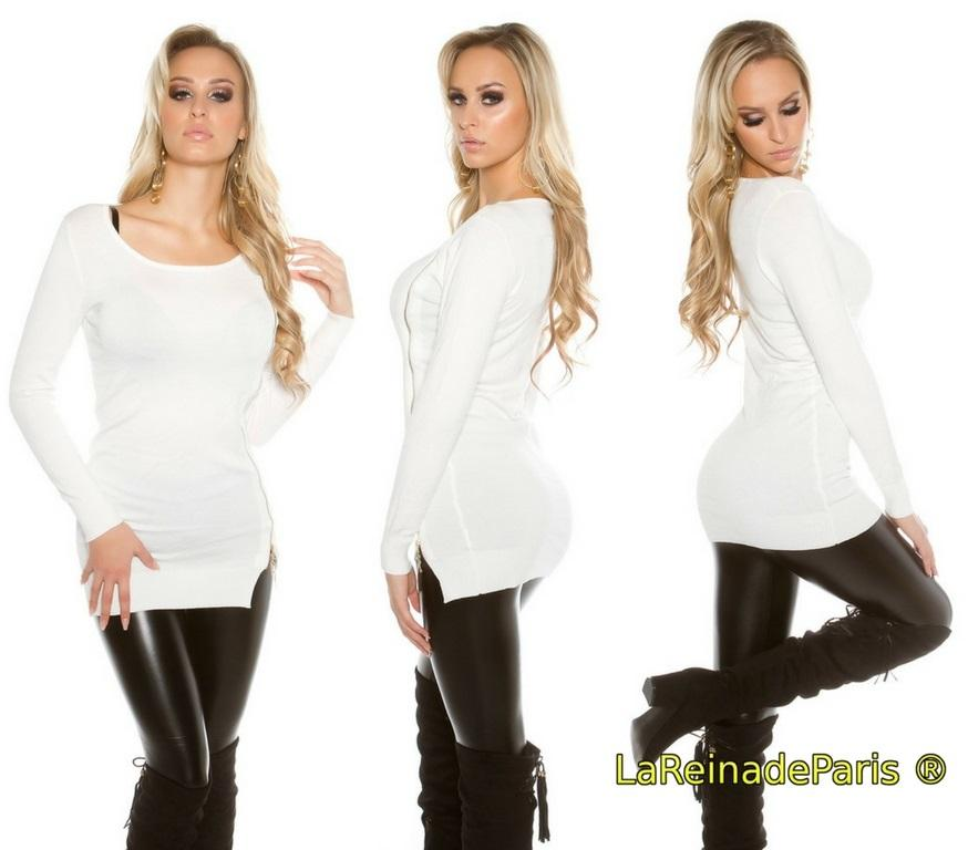 Jersey para leggings punto fino blanco