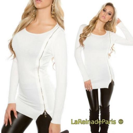 Jersey para leggings punto fino blanco [3]